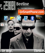 Depeche Mode theme screenshot