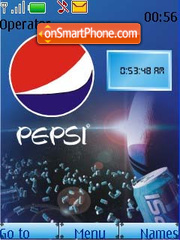 Pepsi Theme SWF Clock theme screenshot