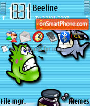 Fish theme screenshot
