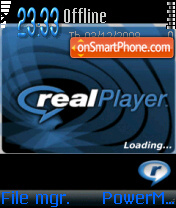 Realplayer theme screenshot