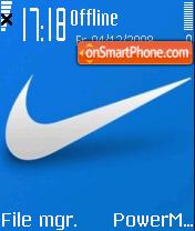 Nike Blue 01 theme screenshot