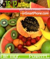 Fruit 02 es el tema de pantalla