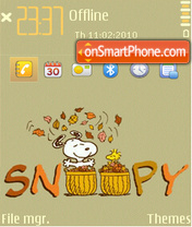 Snoopy (grey-3) theme screenshot