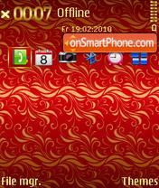 Noble Red theme screenshot