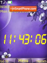 Abstract SWF Clock theme screenshot