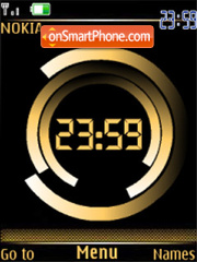 Clock gold flash anim theme screenshot