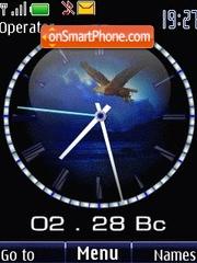 Clock eagle animated theme screenshot