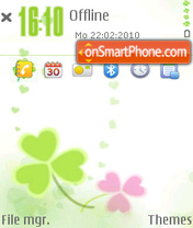Well-being of four-leaf clover theme screenshot