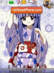 Higurashi no naku koro ni kai (in yukata) theme screenshot
