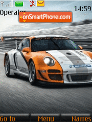 Porsche 911 GT3 R Hybrid theme screenshot