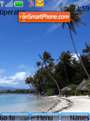 Beach tema screenshot