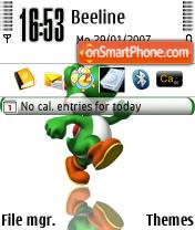 Yoshi theme screenshot