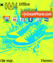 Nike Shoes theme screenshot