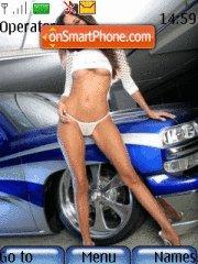 Скриншот темы Car and girl