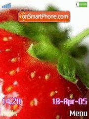 Strawberry es el tema de pantalla