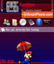 Nintendo theme screenshot