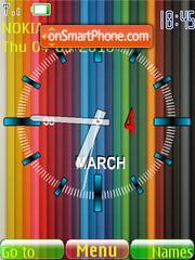 Colored Clock theme screenshot
