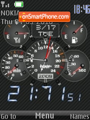 Carbon Clock 01 tema screenshot