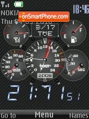 Carbon Clock 01 theme screenshot
