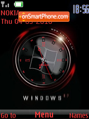 Windows Clock 01 theme screenshot
