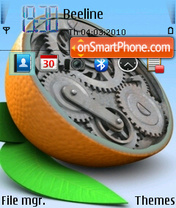 Orange Clock V2 es el tema de pantalla