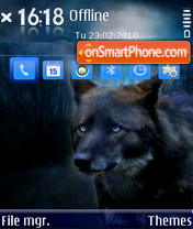 Скриншот темы Hazel eyes