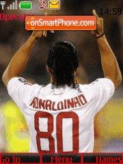 Ronaldinho in milan theme screenshot