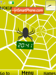 Spider, clock, animation theme screenshot