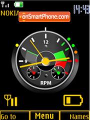 Clock, indicators,animation theme screenshot
