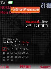 Black Red SWF Calendar theme screenshot