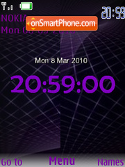 Flash Clock tema screenshot