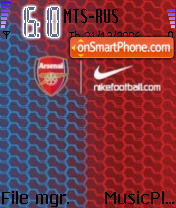 Nike Football theme screenshot