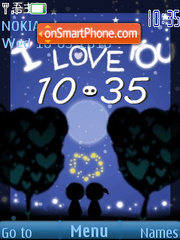 Blue sky love Clock theme screenshot