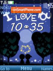 Blue sky love Clock theme screenshot