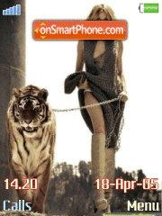 Tiger and girl es el tema de pantalla