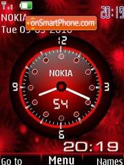 Analog clock red animated theme screenshot