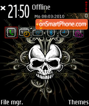 Skulls v5 theme screenshot