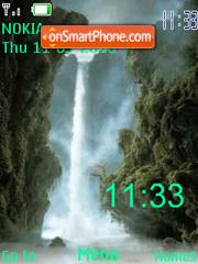 Misty Waterfall clock swf theme screenshot