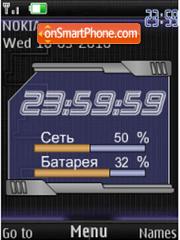 Clock, indicators es el tema de pantalla