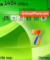 Windows7 green theme screenshot