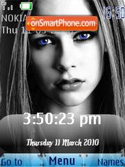 Capture d'écran Avril Lavigne SWF Clock thème