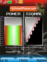 Battery & Signal Updater SWF theme screenshot