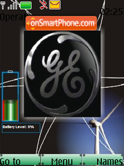 General Electric SWF Battery theme screenshot