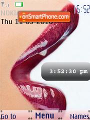 Capture d'écran Hot Lips SWF Clock thème