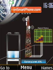 Pole Signal & Battery Updater SWF theme screenshot