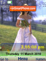 Runaway Bride SWF Clock theme screenshot