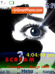 Scream 3 SWF Clock Theme-Screenshot