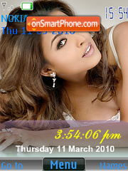 Tanushree Dutta SWF Clock theme screenshot