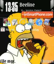 Скриншот темы D'ohQVGA