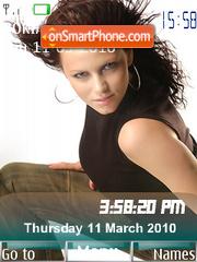 Capture d'écran Yana Gupta SWF Clock thème